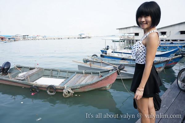 槟城姓周桥chew jetty 渔村风情