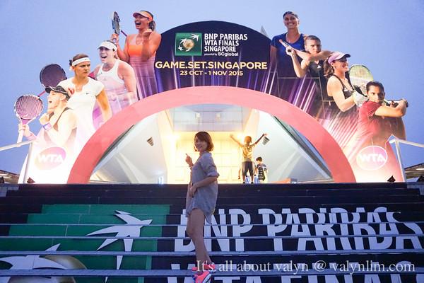 【运动】新加坡WTA Finals 国际女子网球赛事